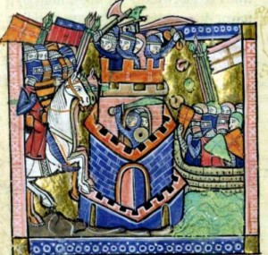 image The siege of Tire by the Crusaders and the Venetian fleet, in 1124.