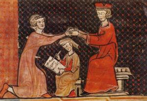 ceremonia de homenaje feudalismo