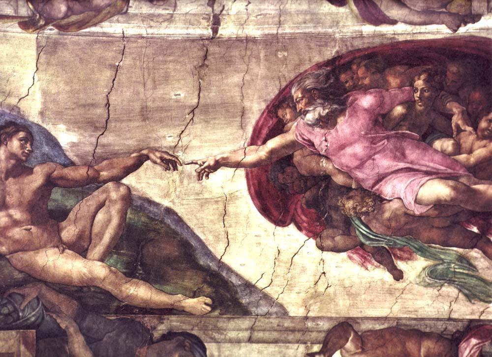 Creación de adán, obra del renacimiento