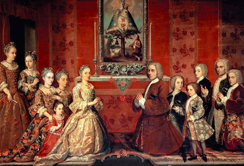 Retrato de familia de criollos