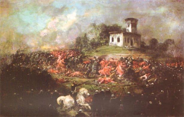 Representación de la batalla de Pavón