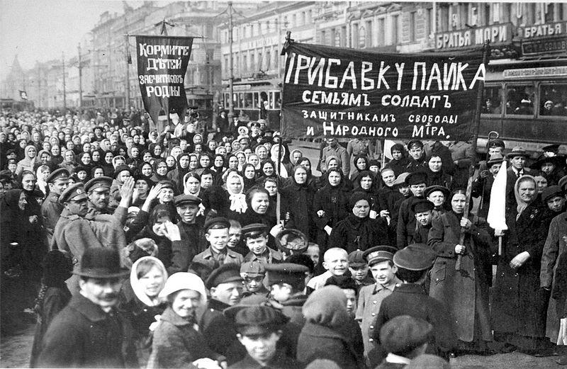 Protesta de la revolución rusa