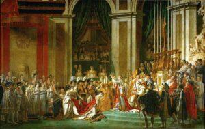 imagen de la consagración de Napoleón Bonaparte