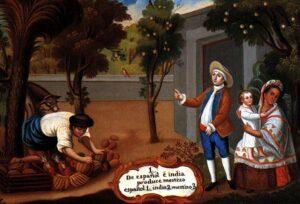Ilustración de las castas coloniales