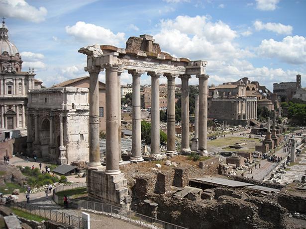 Foro romano, arquitectura de la cultura romana.