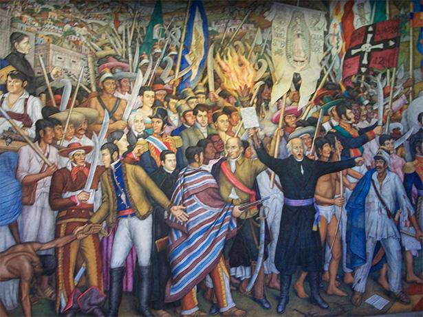 Mural de la independencia de México