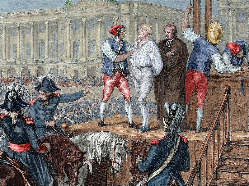 Ejecución de Luis XVI en la revolución francesa