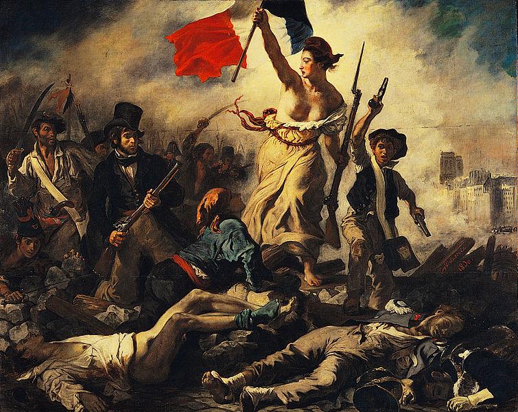 La libertad guiando al pueblo durante la revolución francesa