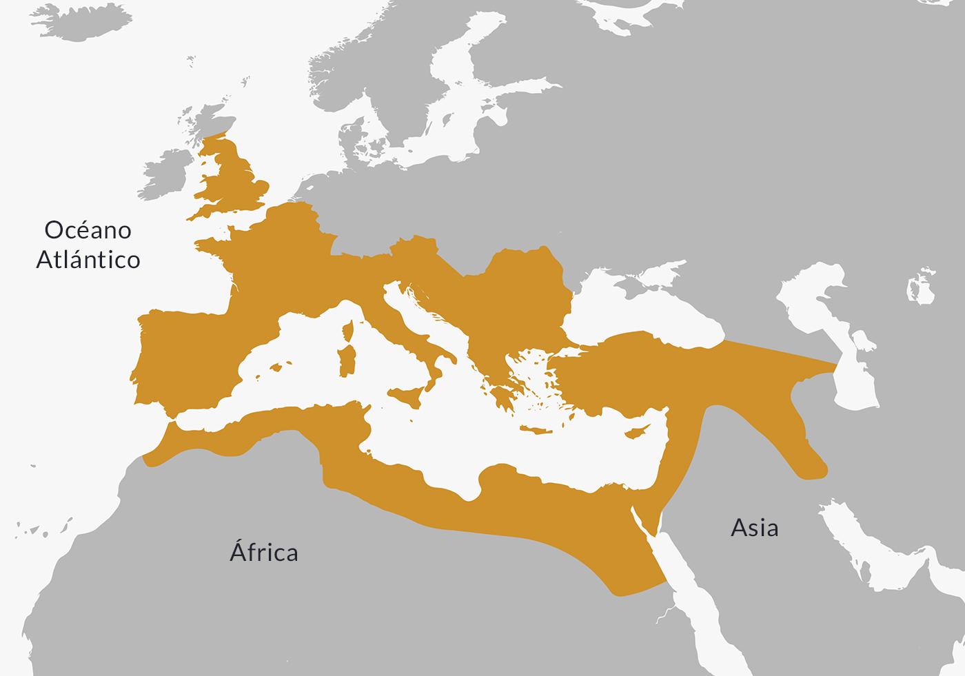 Ubicación del Imperio romano.