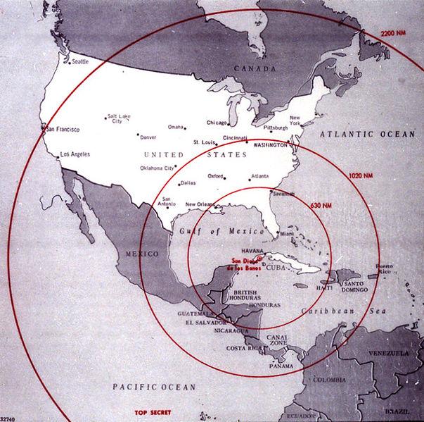 Alcance de los misiles durante la crisis de los misiles