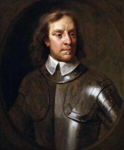 Retrato de Oliver Cromwell, Lord Protector de la República.