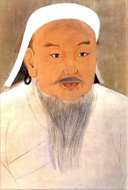 Retrato de Genghis Kan, fundador del Imperio Mongol