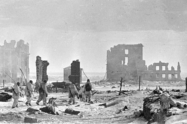 Ciudad de Stalingrado luego de la batalla