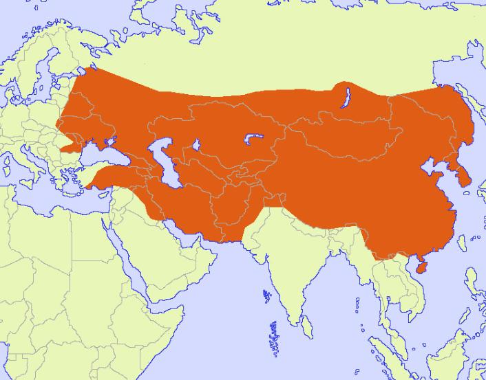 Mapa de ubicación Imperio Mongol