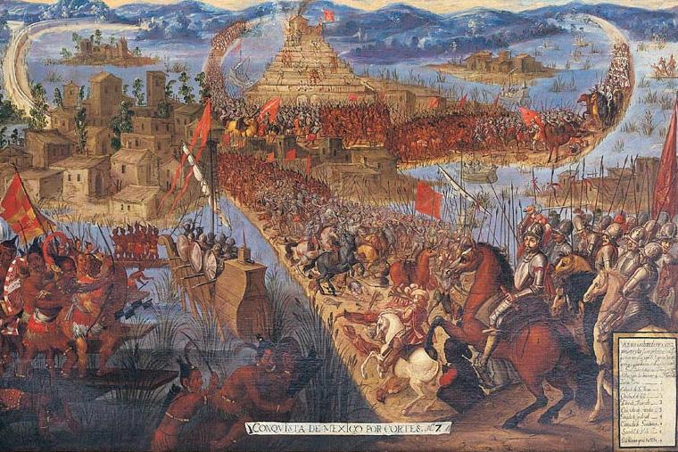 Toma de Tenochtitlan durante la conquista de México