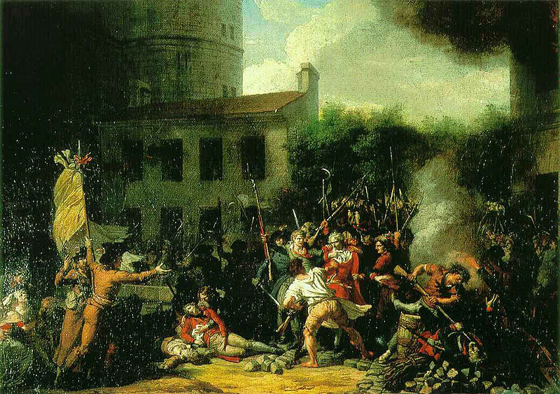 Representación de la toma de la Bastilla