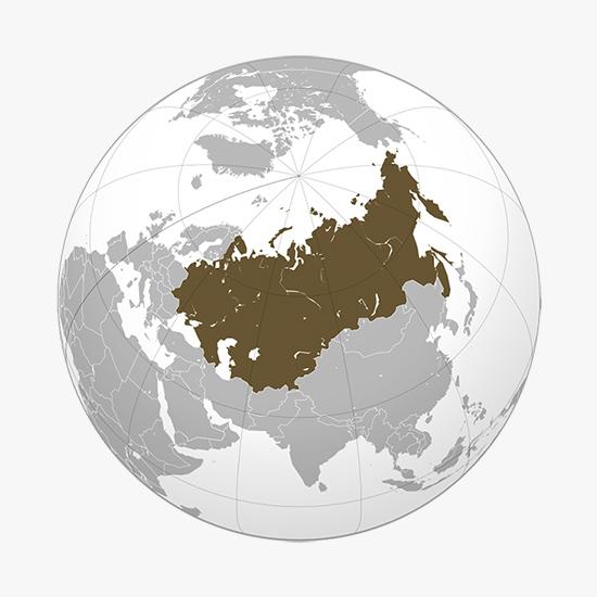Ubicación de la Unión Soviética