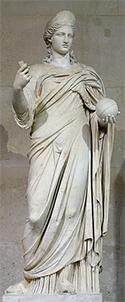 Imagen de la diosa Juno