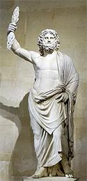 Imagen del dios júpiter