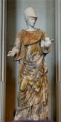 Imagen de la diosa Minerva.