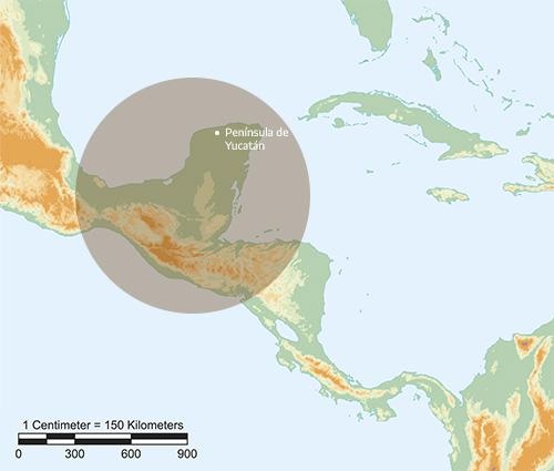 Ubicación en el mapa de la cultura maya