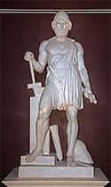 Imagen del dios Vulcano.