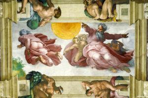pintura de la cúpula de la Capilla Sixtina