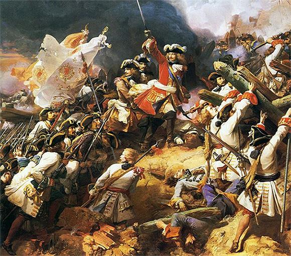 Batalla durante la guerra de sucesión española