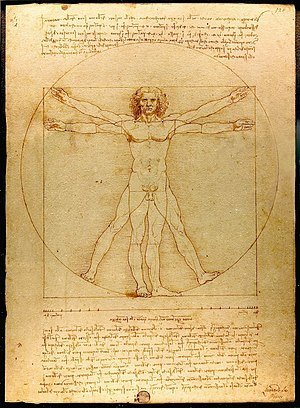 Obra de Da Vinci durante el origen del antropocentrismo