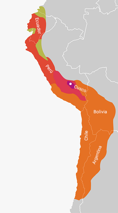 Ubicación de la cultura inca