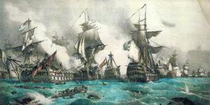 Cuadro de la batalla de Trafalgar