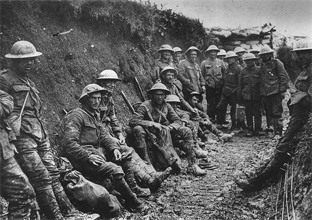 Soldados en la batalla de Somme