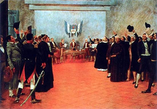 Representación del congreso de Tucumán