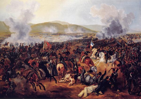 Representación de la batalla de Maipú