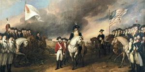 Representación de la batalla de Yorktown