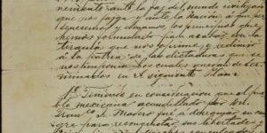 Copia del manuscrito del plan de Ayala