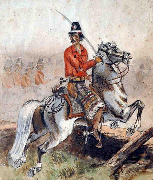 Soldado durante la guerra de la triple alianza