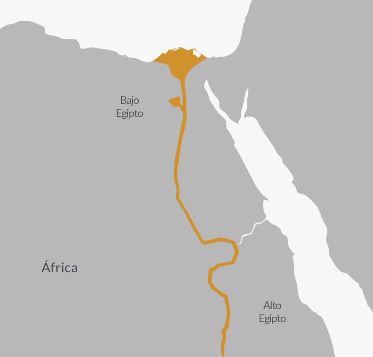Área de desarrollo de la civilización del antiguo Egipto.