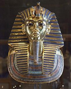 fotografía de la Máscara de Tutankamón