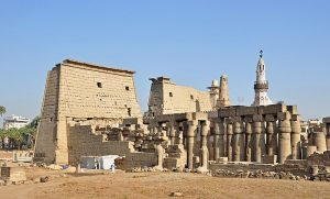 fotografía del Templo de Luxor en Tebas.