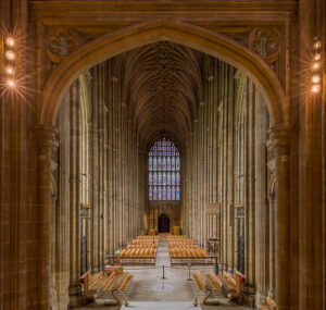 photograph of the nave of Canterbury Cathedral