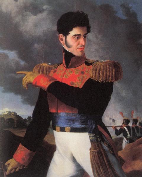 retrato de López de Santa Anna