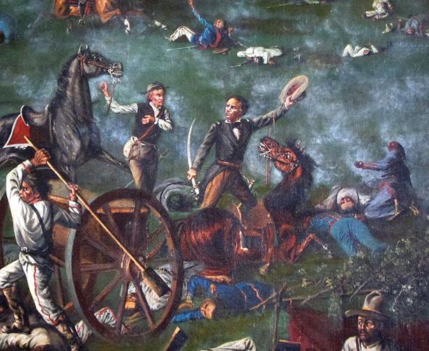 Óleo de la batalla de San Jacinto