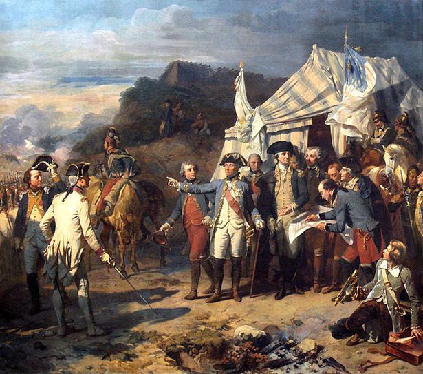 óleo de la batalla de Yorktown