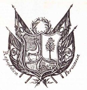 Imagen del escudo del Perú 1825