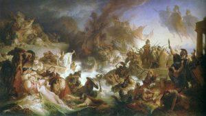 Pintura de la batalla de Salamina