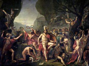 Pintura de Leónidas en las Termópilas