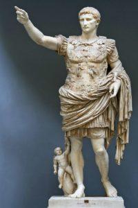 Fotografía de la escultura del emperador Augusto