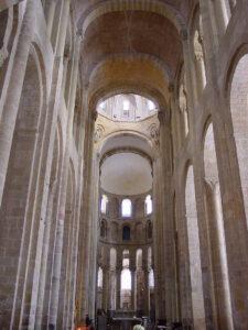 photo of the church of Santa Fe de Conques