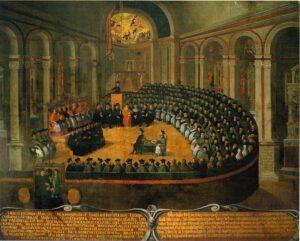 pintura de la Sesión del Concilio de Trento